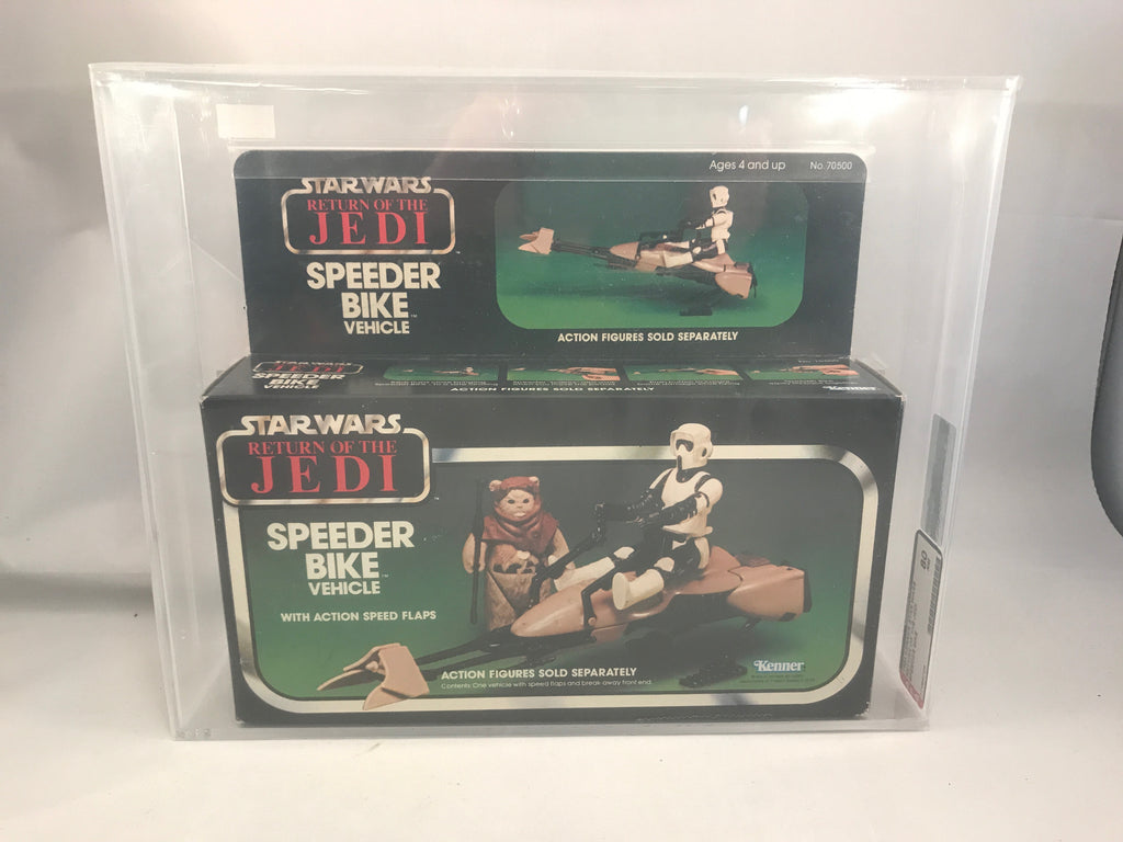 Vintage Star Wars ROTJ Speeder Bike Vehicle AFA 80 MIB