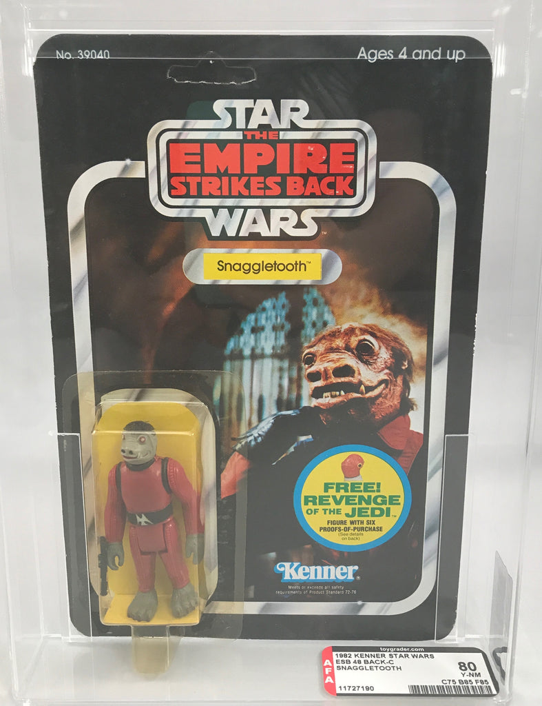 Vintage Star Wars ESB Snaggletooth 48-Back-C AFA 80 MOC