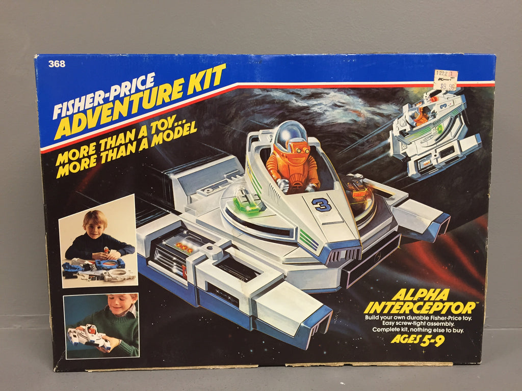 Vintage Fisher Price Adventure People Adventure Kit Alpha Interceptor Rare MISB