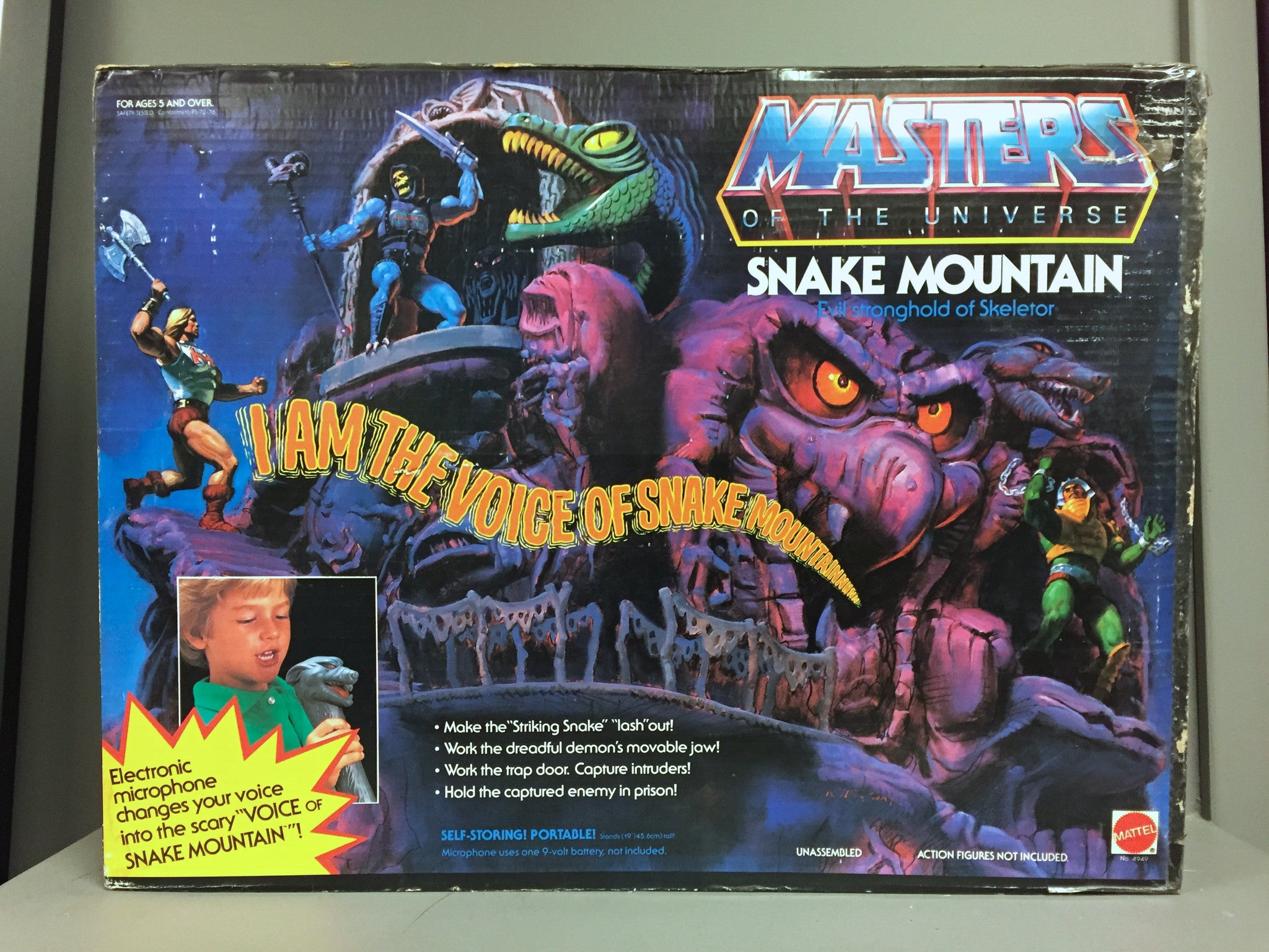 Vintage Mattel Masters of the Universe Snake Mountain Playset MISB