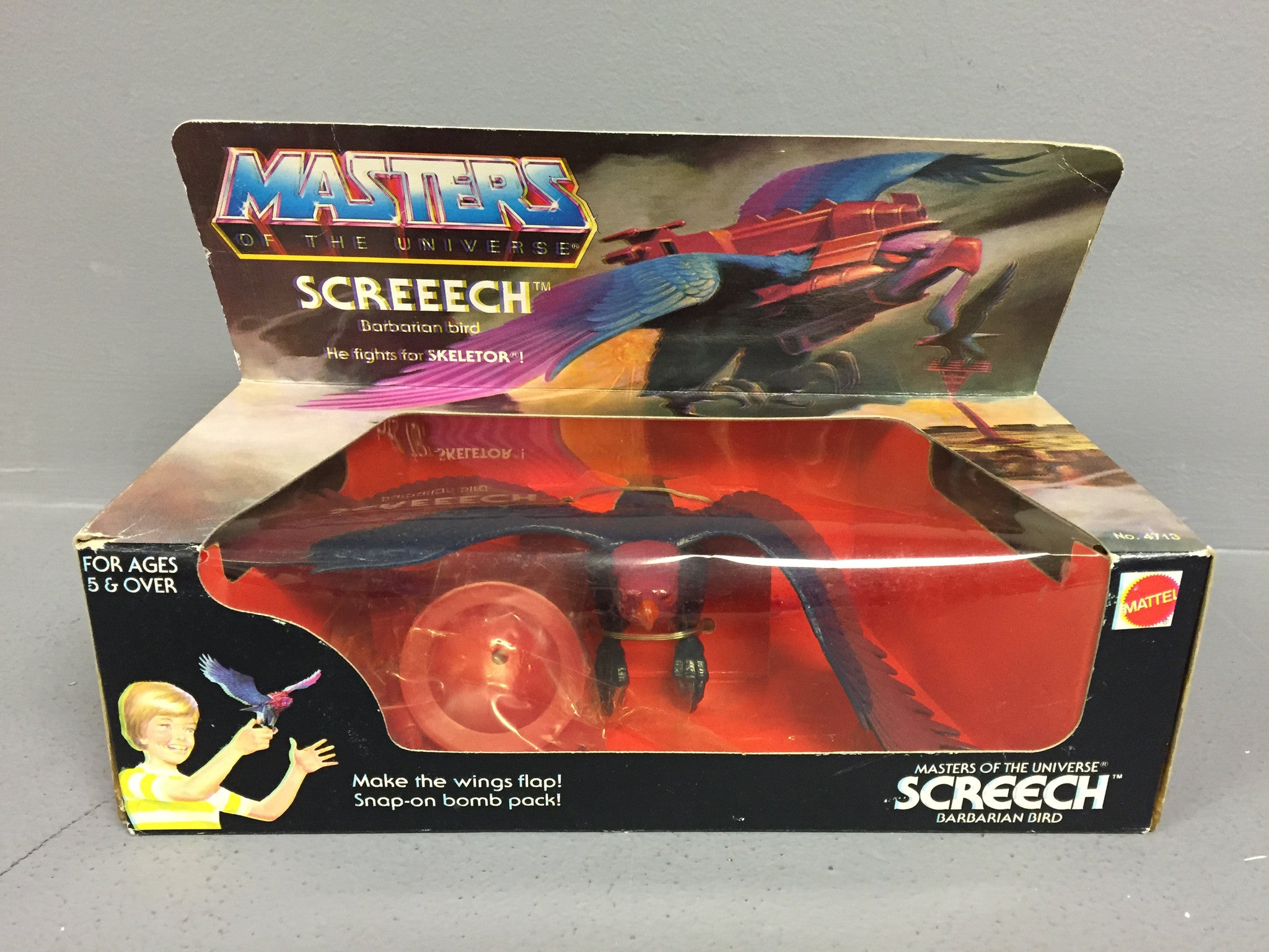 Vintage Mattel Masters of the Universe Screech MISB