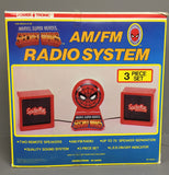 Vintage Marvel Spider-Man AM/FM Radio System MIB