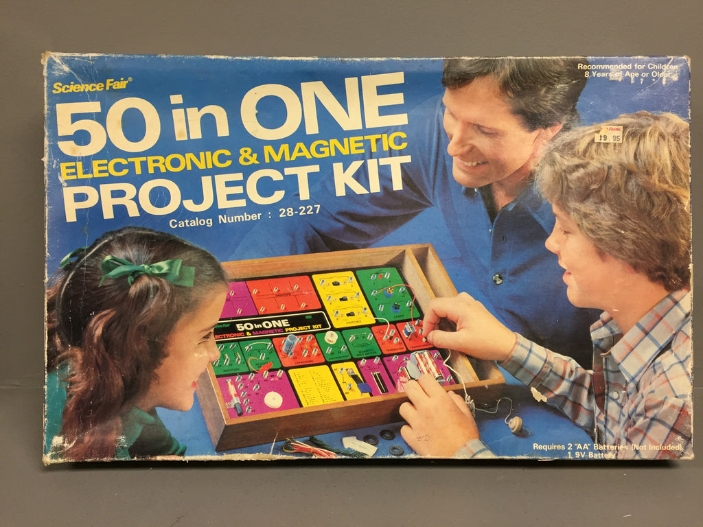 Vintage 50 in One Electronic and Magnetic Project Kit Board Game