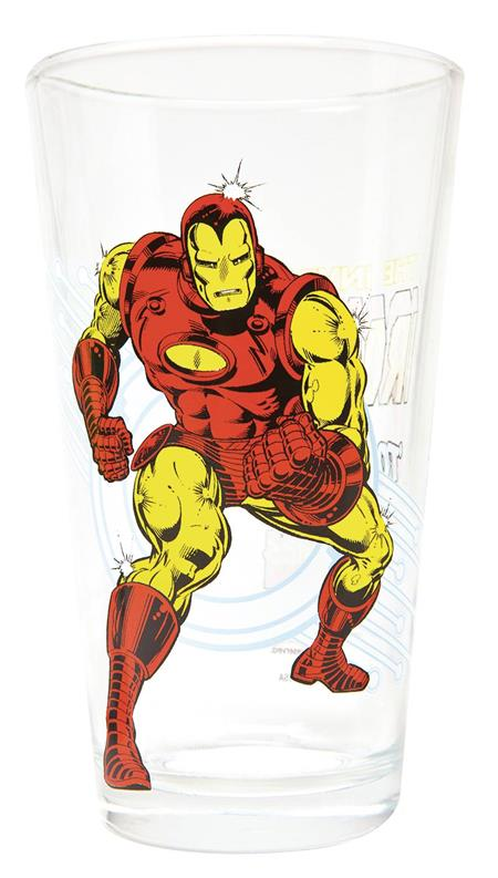 Marvel Comics Vintage Style Iron Man Drinking Glass (Toon Tumbler)