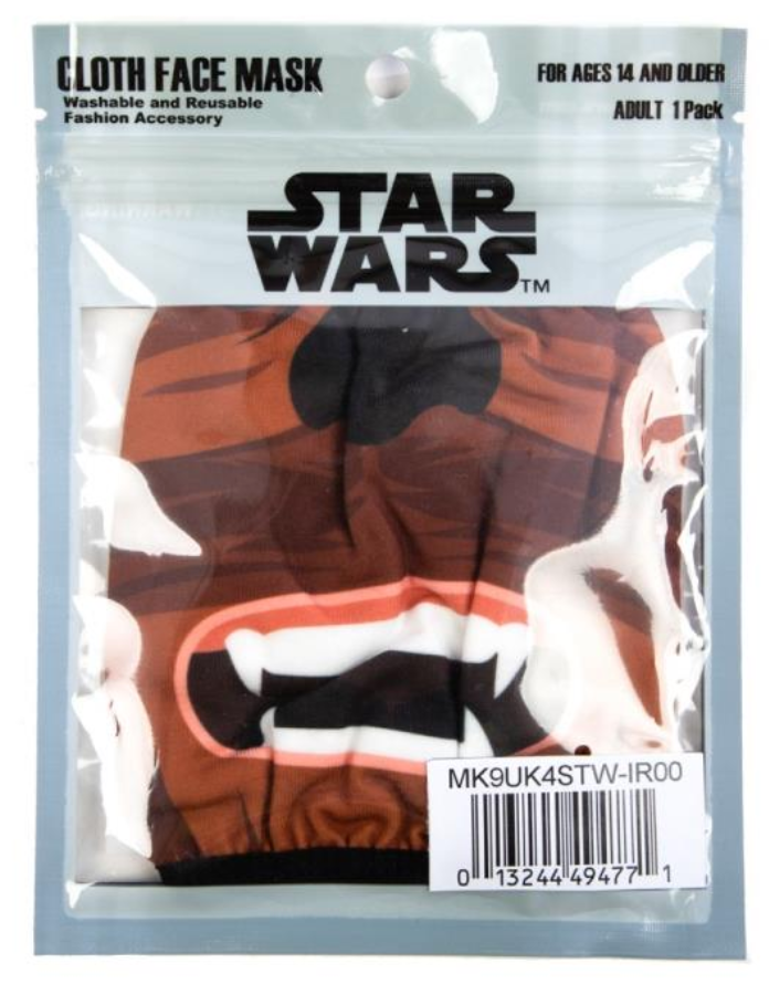 Star Wars Chewbacca Adjustable Face Cover Mask