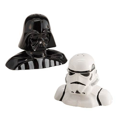 Star Wars Darth Vader and Stormtrooper Salt & Pepper Shakers