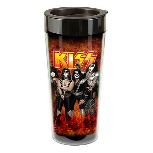 Vandor KISS Plastic Travel Mug