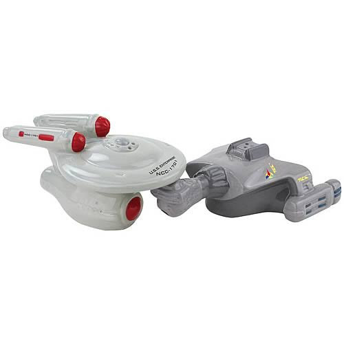 Star Trek Enterprise and Klingon Ship Salt & Pepper Shakers
