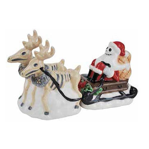 The Nightmare Before Christmas Jack Skellington and Reindeer Salt & Pepper Shakers