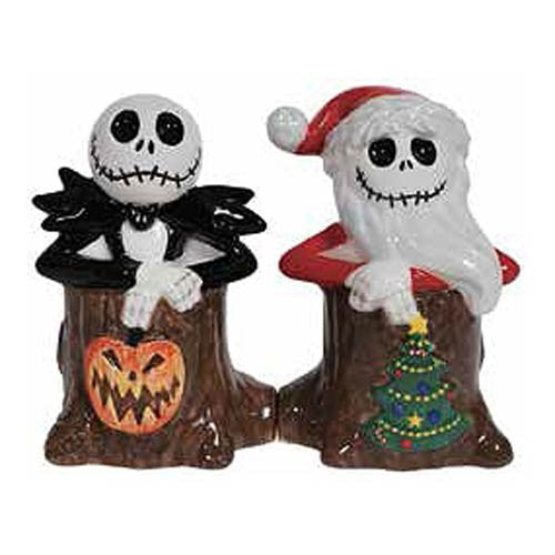 The Nightmare Before Christmas Holiday Jack Skellington Salt & Pepper Shakers