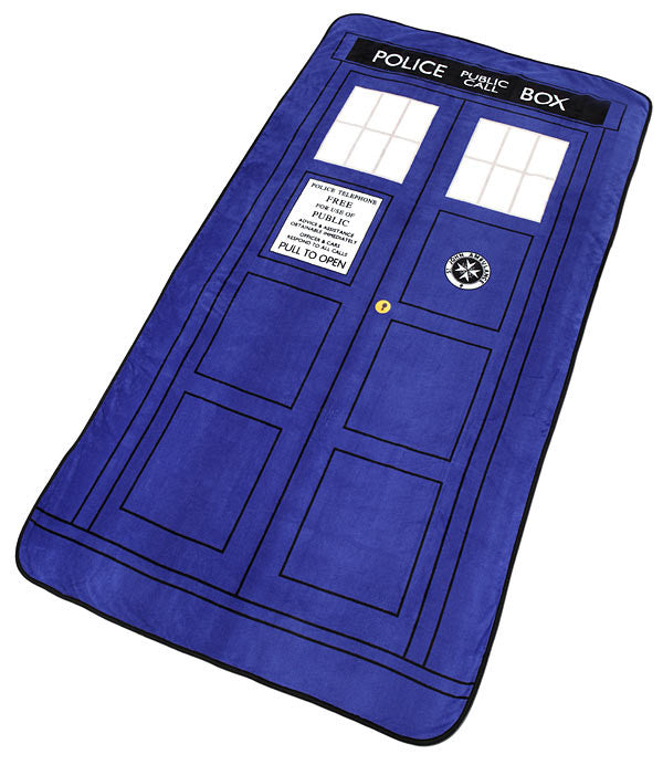 Doctor Who Classic Tardis Throw Blanket
