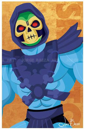 "Masters of the Universe Skeletor Comic-Style Print 11"" x 17"""