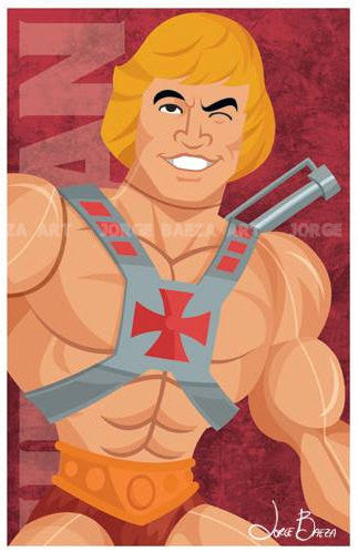"Masters of the Universe He-Man Comic-Style Print 11"" x 17"""
