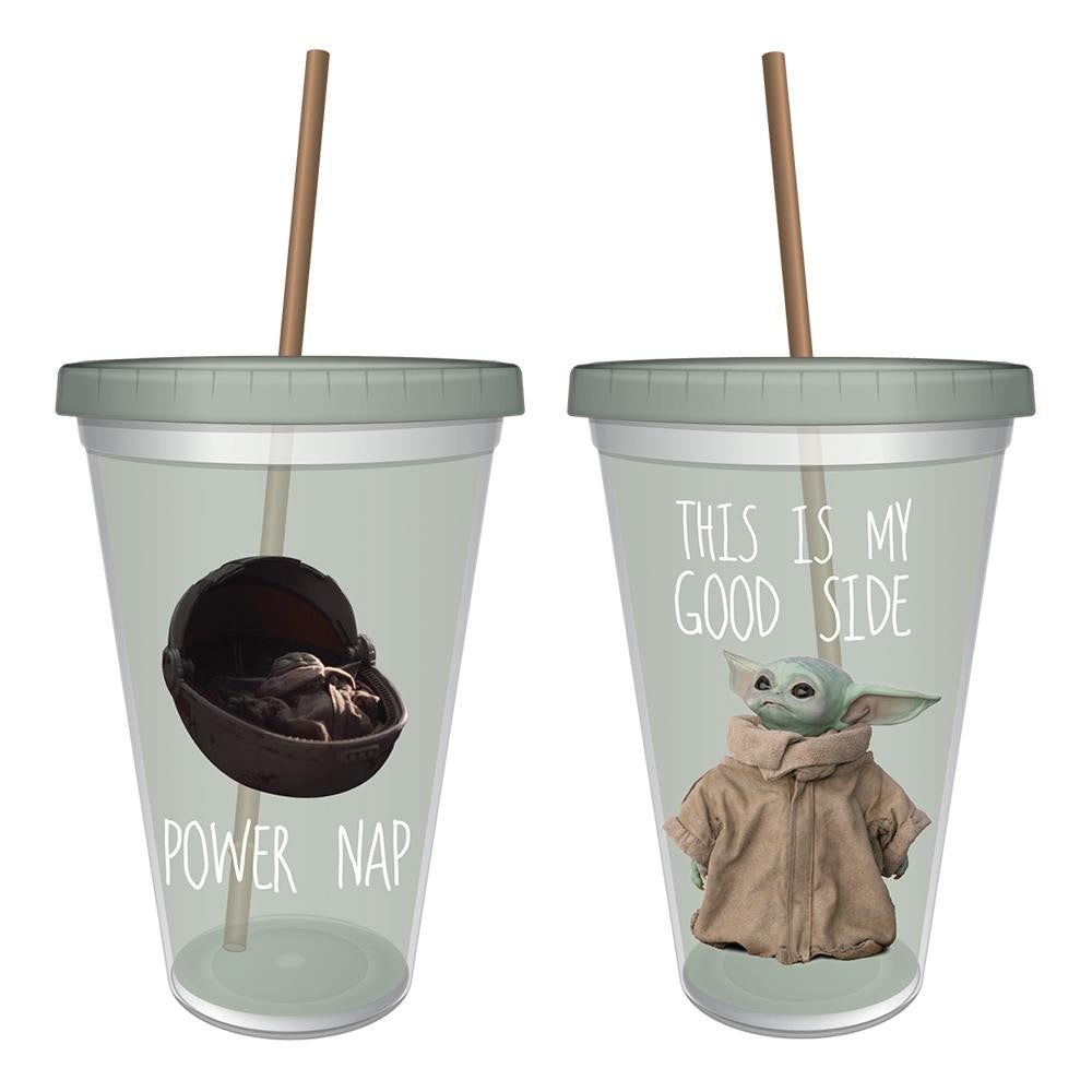 Star Wars Mandalorian The Child Baby Yoda 16 oz. Acrylic Travel Cup