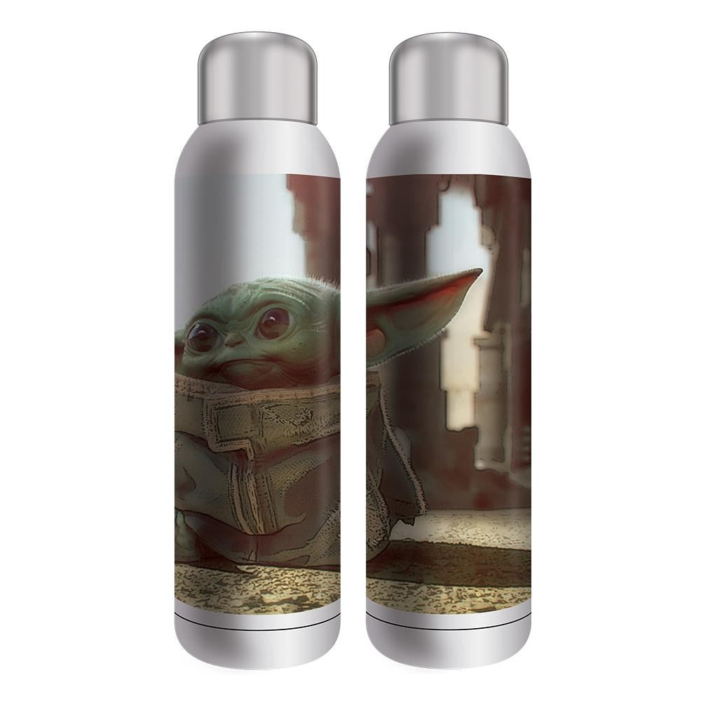Star Wars Mandalorian The Child Baby Yoda 22 oz. UV Stainless Steel Water Bottle