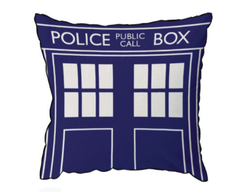 Doctor Who Tardis Pillow Square