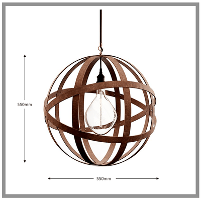 Orbital lamp de suspension, fabrique en grande bretagne