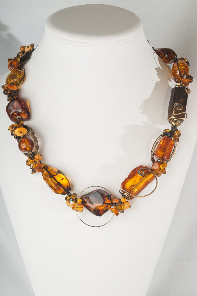 Elemental Amber Necklace