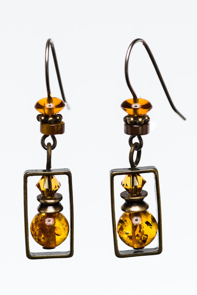 Elemental Amber Earrings
