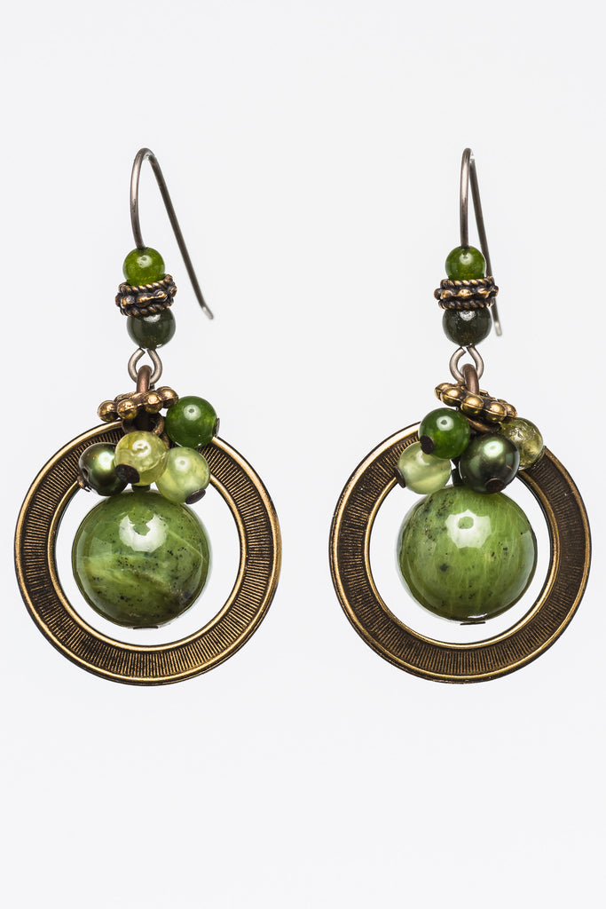 Elemental Jade Earrings