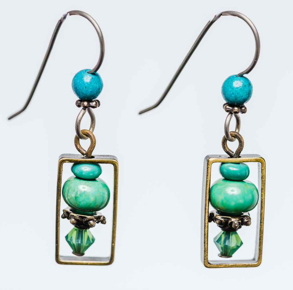 Elemental Turquoise Earrings