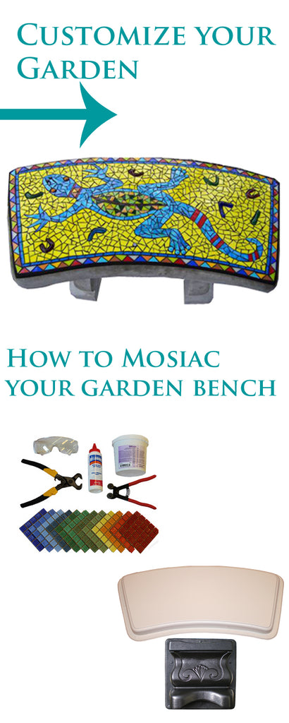 Pleasant How To Mosaic Your Garden Bench History Stones Ibusinesslaw Wood Chair Design Ideas Ibusinesslaworg