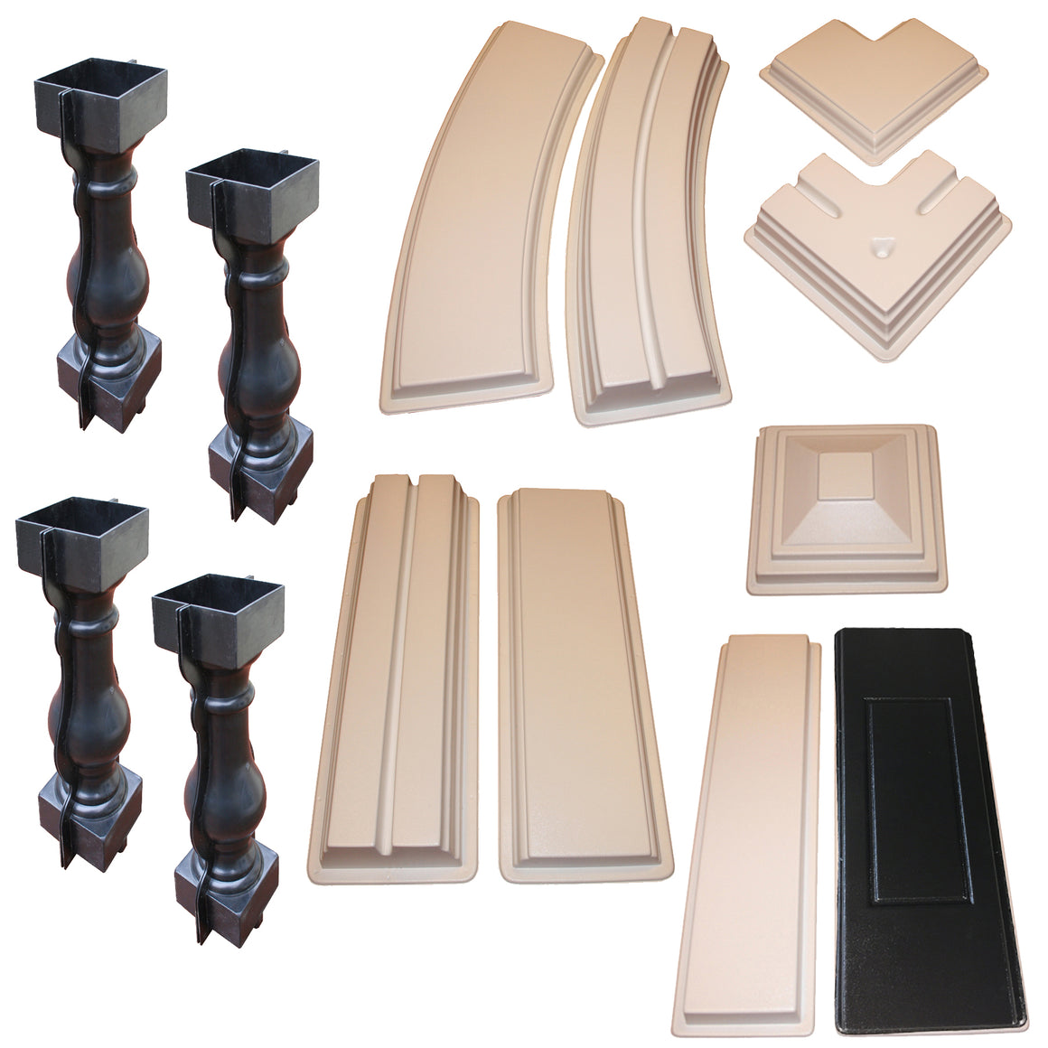 13 Piece Professional Concrete Railing Mold Set