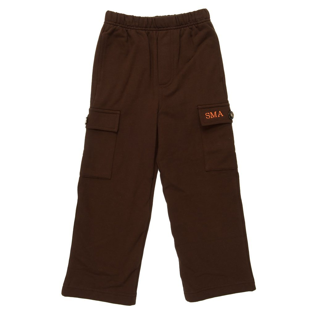 Brown Aiden Fleece Cargo Pant