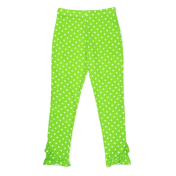 Holly Jolly Reese Lime Dot Leggings