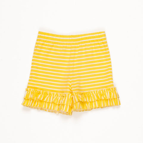 Lemon Blossom Brailey Ruffle Short