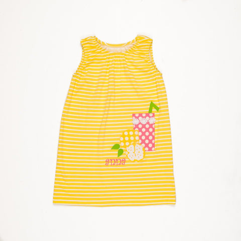 Lemon Blossom Brianna Dress