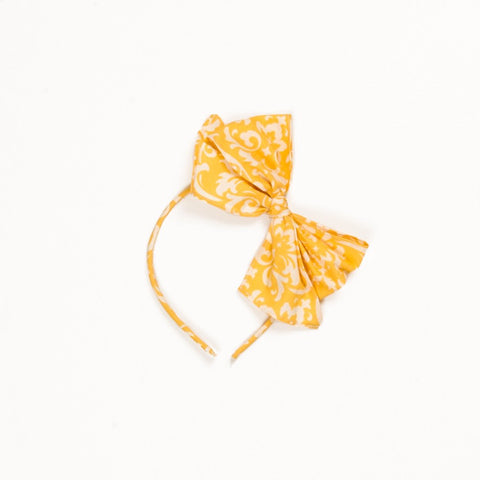 Lemon Blossom Bea Damask Headband