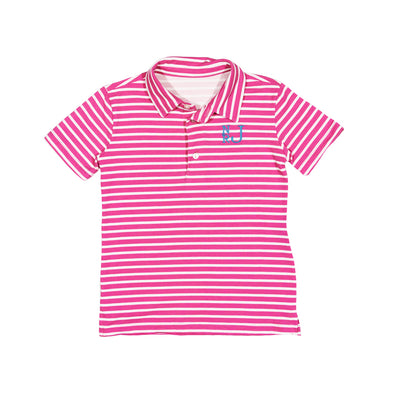 Hot Pink Stripe Connor Polo