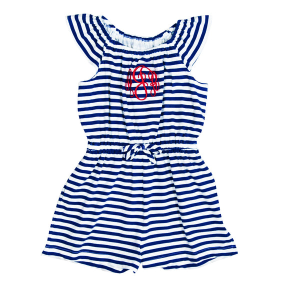 Navy Stripe Knit Nettie Romper