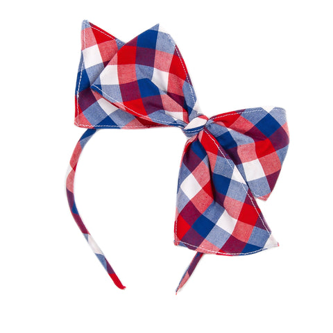 Patriotic Plaid Bea Headband