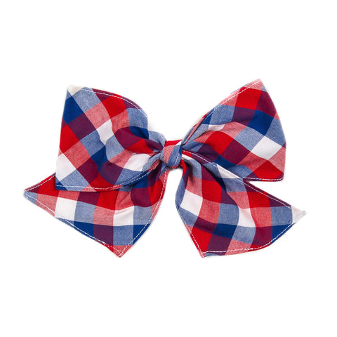 Patriotic Plaid Sonni Bow