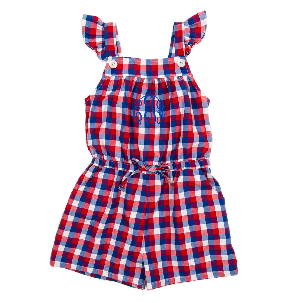 Patriotic Plaid Maya Romper