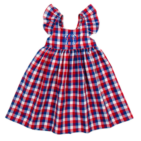 Patriotic Plaid Serena Dress