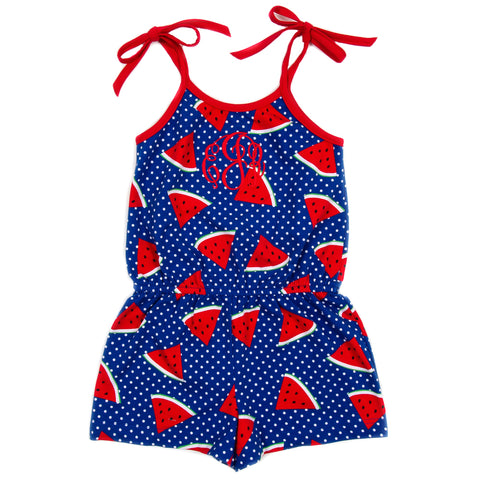 Whales and Watermelons Judy Romper