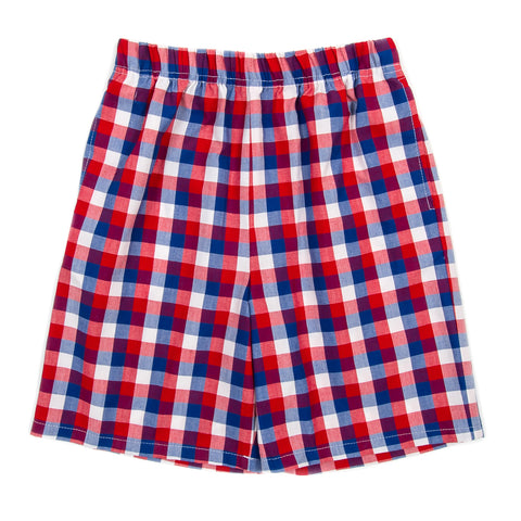 Patriotic Plaid Mason Short