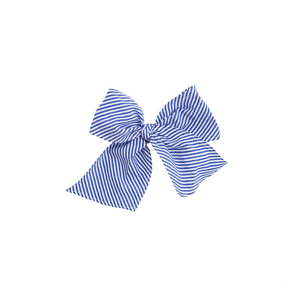Royal Stripe Sonni Fabric Bow