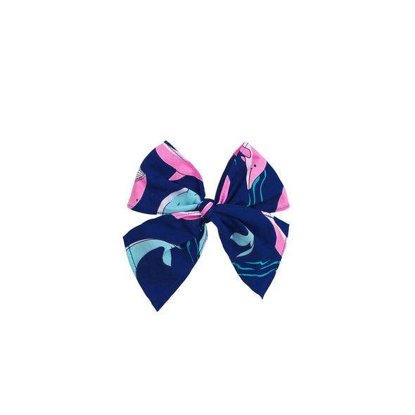 Whale Sonni Fabric Bow