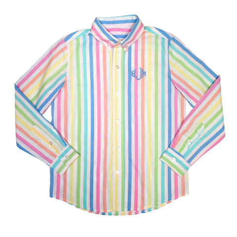 Rainbow Sherbert James Button Down