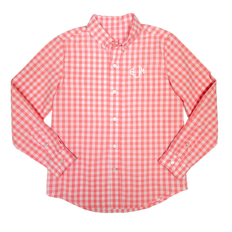Country Club Coral James Button Down Shirt