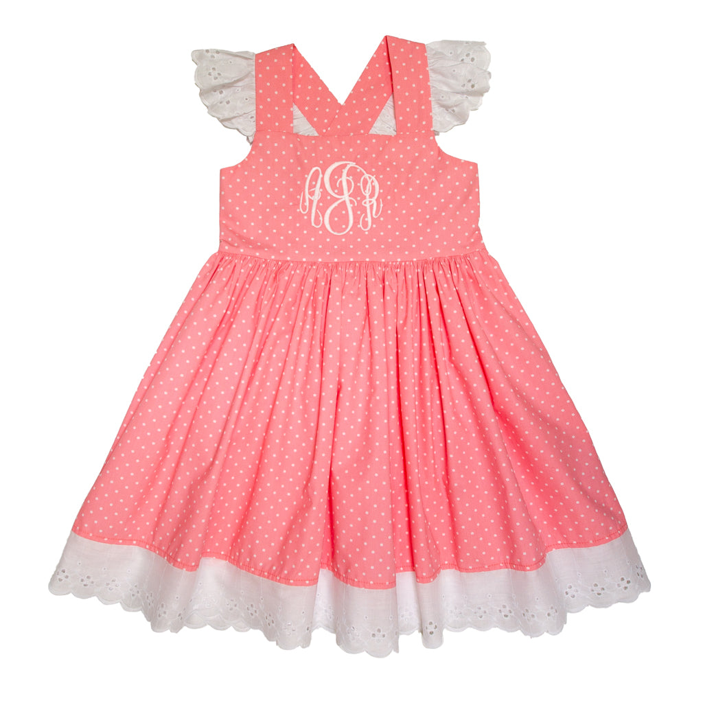 Country Club Coral Margaret Dress