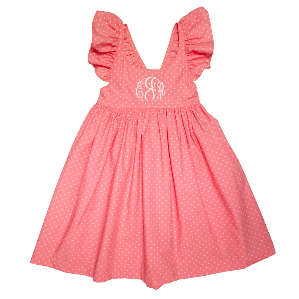 Country Club Coral Serena Dress