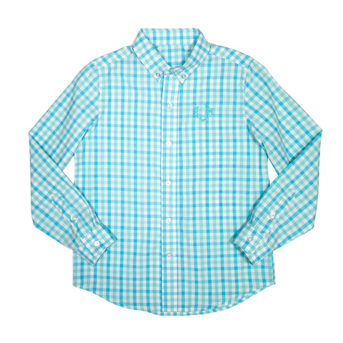 Aqua Sky James Button Down Shirt