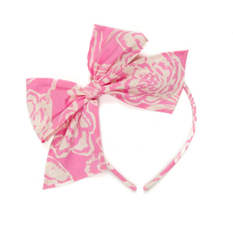 Pink Floral Bea Headband