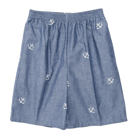 Summer Chambray Mason Short