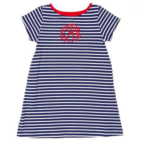 School Blue Mariah Stripe Dress